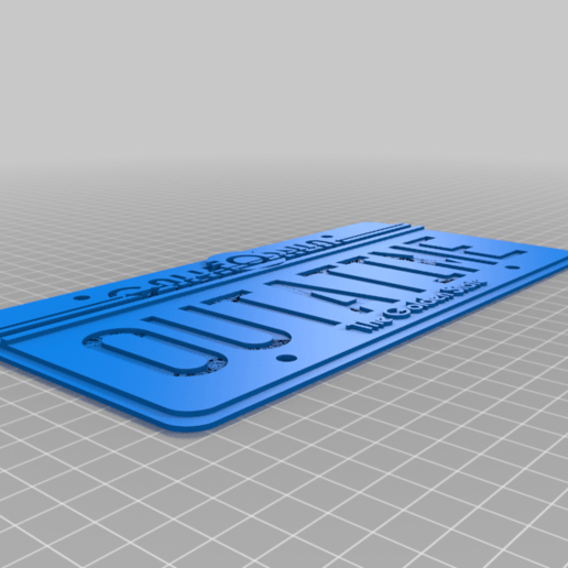 outatime_75.png Download free STL file Back to the Future License Plate OUTATIME (75% from original) • 3D print model, yvrogne59