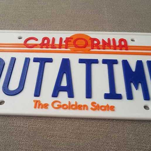 20200807_080357.jpg Download free STL file Back to the Future License Plate OUTATIME (75% from original) • 3D print model, yvrogne59