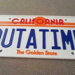Download free 3D model Back to the Future License Plate OUTATIME (75% from original), yvrogne59