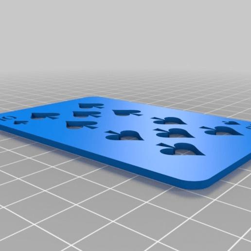 1a2e19167f66e2749d9e448f150afce0.png Télécharger fichier SCAD gratuit Les cartes à jouer • Objet imprimable en 3D, yvrogne59
