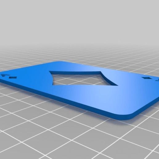 cf8b9edae309b5198f50f320b052a00e.png Télécharger fichier SCAD gratuit Les cartes à jouer • Objet imprimable en 3D, yvrogne59