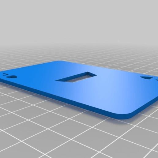 5be670eecede0a1a583b989b2fdc71af.png Télécharger fichier SCAD gratuit Les cartes à jouer • Objet imprimable en 3D, yvrogne59