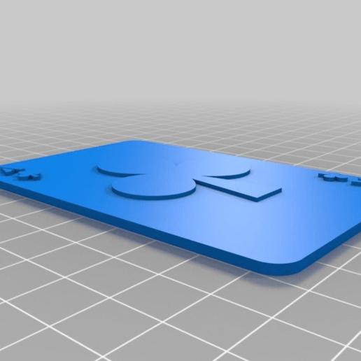 f0ad1749e19b31eeb8120b1b5651b350.png Télécharger fichier SCAD gratuit Les cartes à jouer • Objet imprimable en 3D, yvrogne59