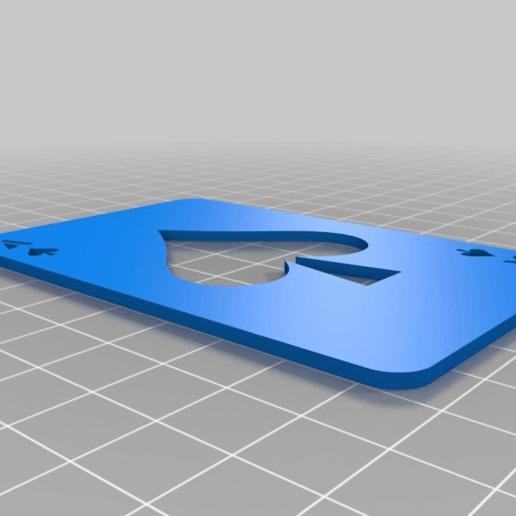 335c6769303cbd037c44fe2cc37badd5.png Télécharger fichier SCAD gratuit Les cartes à jouer • Objet imprimable en 3D, yvrogne59