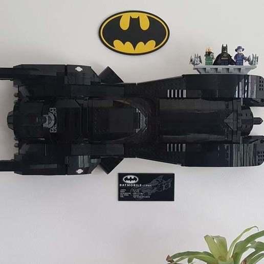 Download free 3D printing designs Lego Batmobile wall mount, yvrogne59
