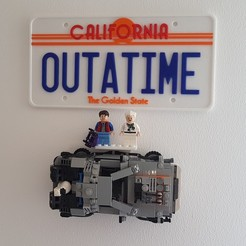 Download free 3D printing files Lego DeLorean Wall Mount, yvrogne59