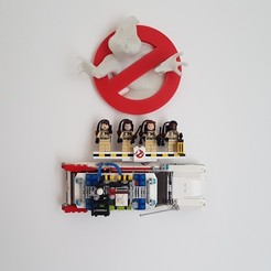 Download free 3D printer designs Lego Ghostbuster Ecto-1 Wall Mount, yvrogne59