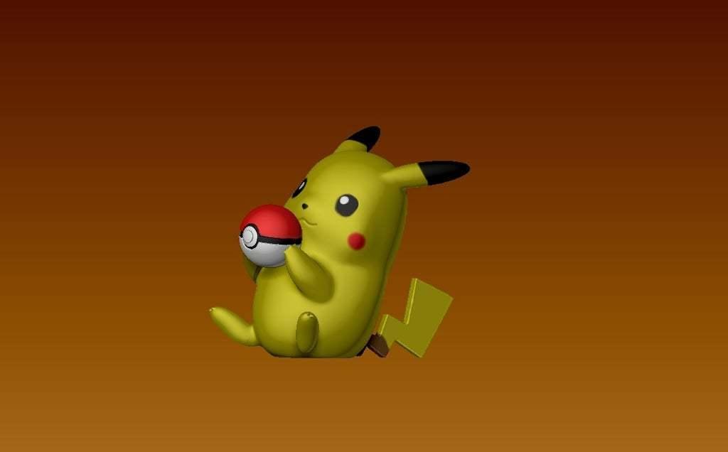 pikaball2.jpg Download free STL file Pikachu with a pokeball • 3D printable design, laqdime93
