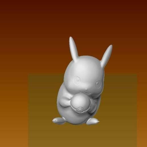 pikaball4.jpg Download free STL file Pikachu with a pokeball • 3D printable design, laqdime93