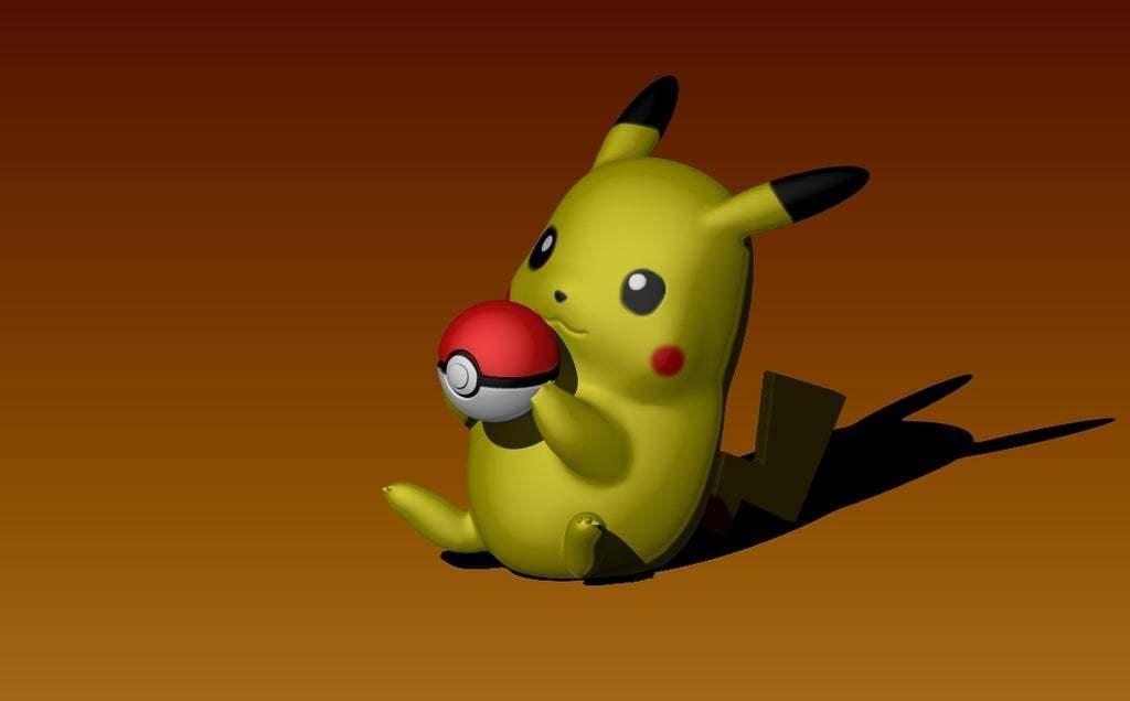 pikaball1.jpg Download free STL file Pikachu with a pokeball • 3D printable design, laqdime93