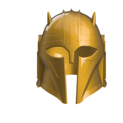 Armorer helm1.png Download STL file Mandalorian The Armorer Helm • Design to 3D print, laqdime93