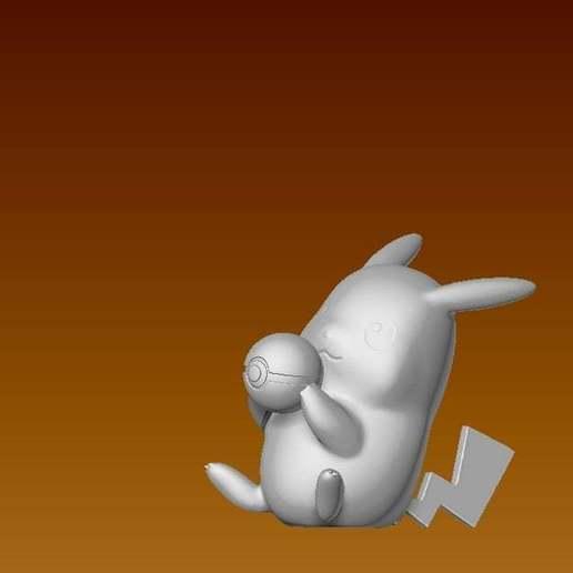 pikaball3.jpg Download free STL file Pikachu with a pokeball • 3D printable design, laqdime93