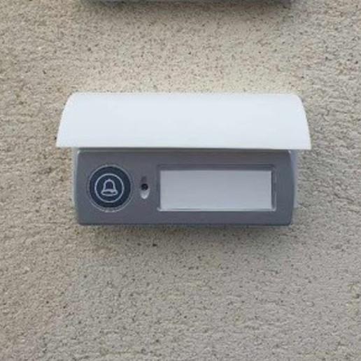 Télécharger STL gratuit Couvercle de sonnette / auvent de porte, Mathieu_BZH