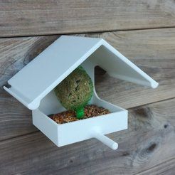 Download free 3D printing files Bird fat ball house feeder, Mathieu_BZH