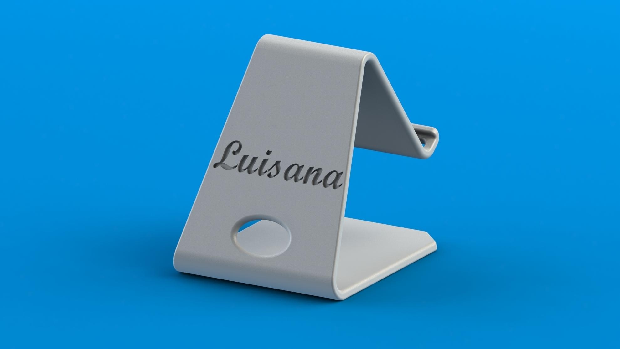 Luisana.JPG Download free STL file Universal phone holder _ Samsung galaxy / Xiaomi Redmi • Object to 3D print, Mathieu_BZH