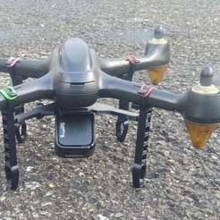 Download free STL file Hubsan 501 Landing Gear w/ Go Pro Base, Glenn37216
