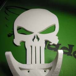 Download free 3D printing designs Punisher Skateboard Wall Mount, Glenn37216