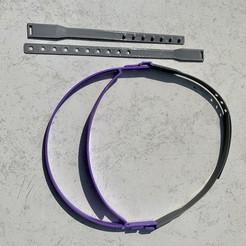 Descargar archivo 3D gratis Protección de la visera de la cinta de la cabeza Covid, Domyseto