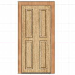 Snímek obrazovky 2020-09-14 v 20.20.45.png Download 3MF file Dollhouse door • 3D printer template, Fotonoska3D