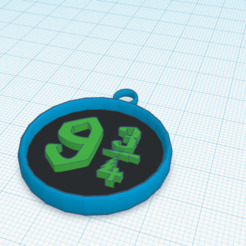 FireShot Capture 020 - 3D design Smashing Habbi-Jaagub - Tinkercad - www.tinkercad.com.png Download free STL file pendentif 9 3\4 • 3D printable template, podddingue