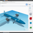 Free 3D model avion a elice, podddingue