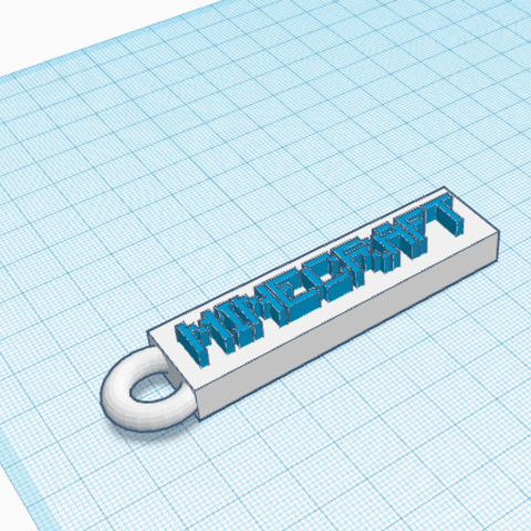 Free 3D printer designs porte cle minecraft, podddingue
