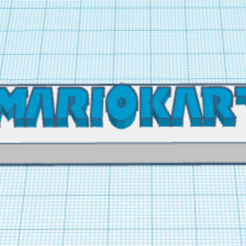 Free 3D printer designs porte clé MARIO KART, podddingue