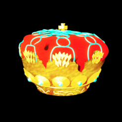 crown.png Download STL file stylized crown for games • Design to 3D print, Bendtfusion