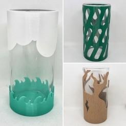 All.JPG Download STL file Cylindrical Vase Covers • 3D printable model, 3DWinnipeg