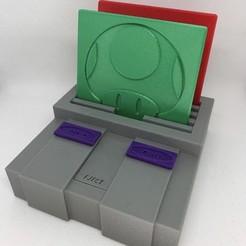 nintendo square.jpg Download STL file Game Console Coaster Holder • Model to 3D print, 3DWinnipeg