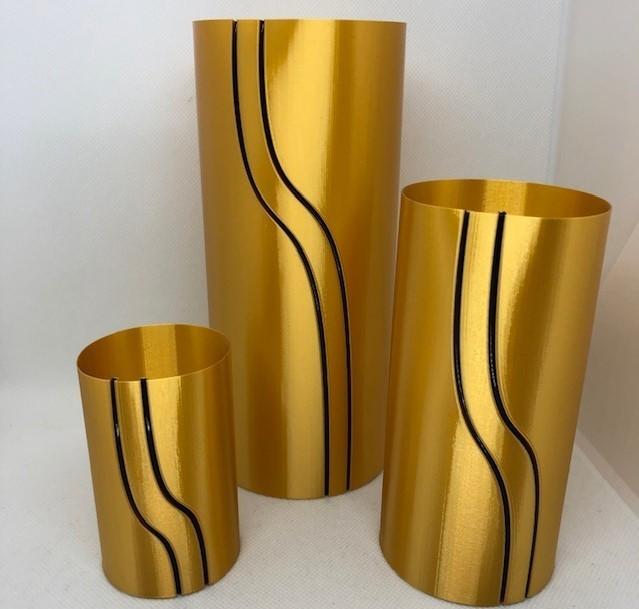 gold.jpg Download STL file Waterfall Filament Vase Collection • 3D printing object, 3DWinnipeg