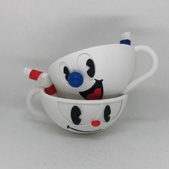 Download 3D printer model Cuphead and Mugman, 3DWinnipeg