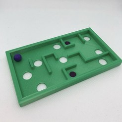 ball tilt.jpg Download free STL file Ball Tilt Game • Template to 3D print, 3DWinnipeg