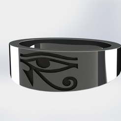Horus-eye-ring.JPG Download free STL file Horus eye ring • 3D printable design, mecanic
