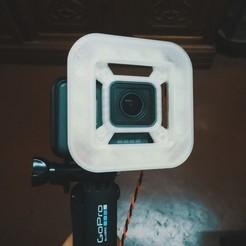 Photo-1.jpg Download free STL file GoPro Hero 5 Black LED Ring Light • Model to 3D print, modellerhouse