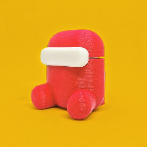 export1.jpg Download free STL file Among Us Case for AirPods • 3D printable model, modellerhouse