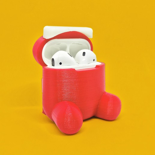 export2.jpg Download free STL file Among Us Case for AirPods • 3D printable model, modellerhouse