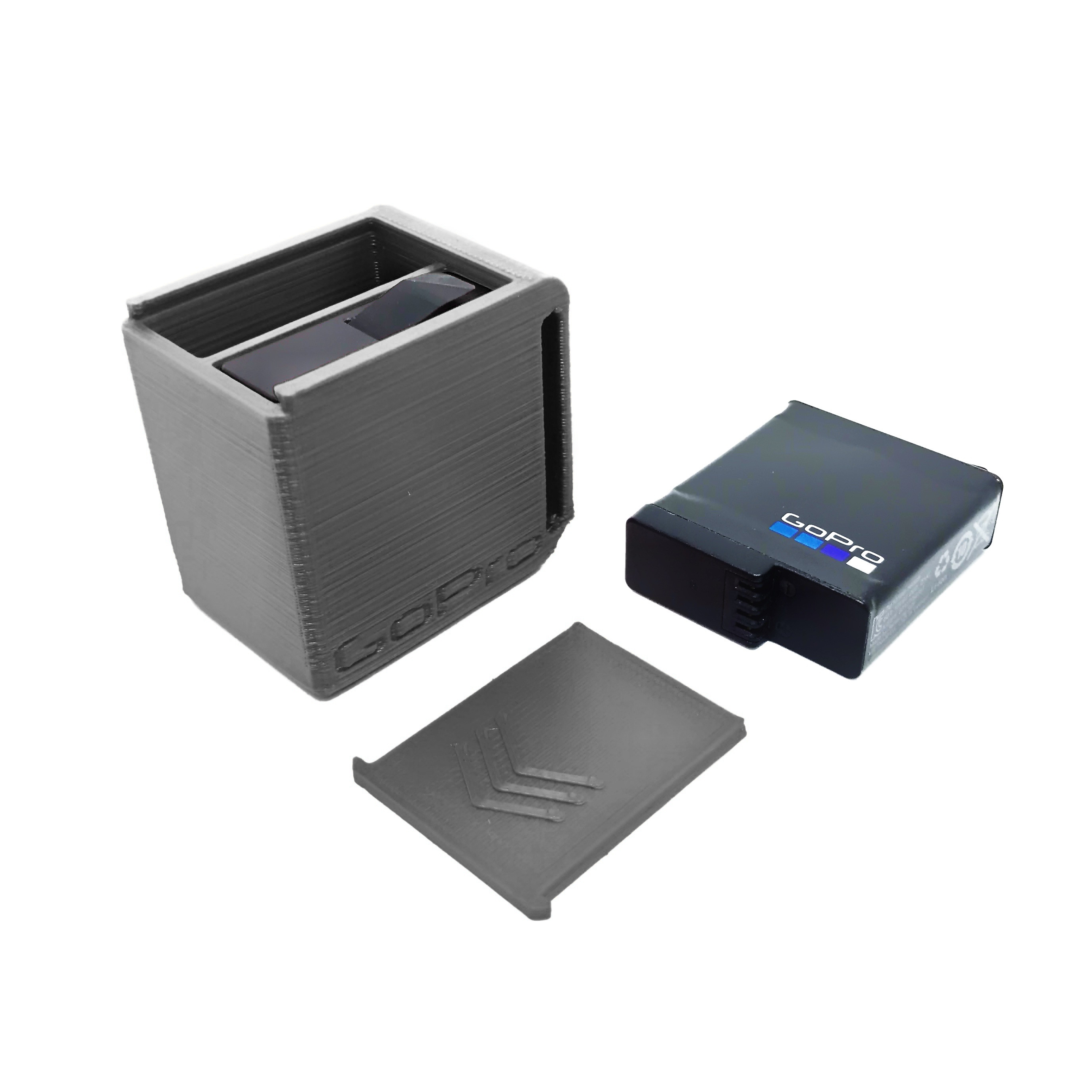 Black.jpg Download free STL file GoPro Battery Case • 3D printing model, modellerhouse
