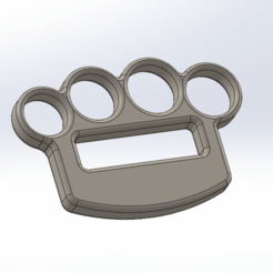 3D printing model Brass knuckles, siempreingles
