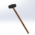 MARTILLO.png Download free STL file sledge hammer 1/16 accesorys tools scael • Template to 3D print, siempreingles