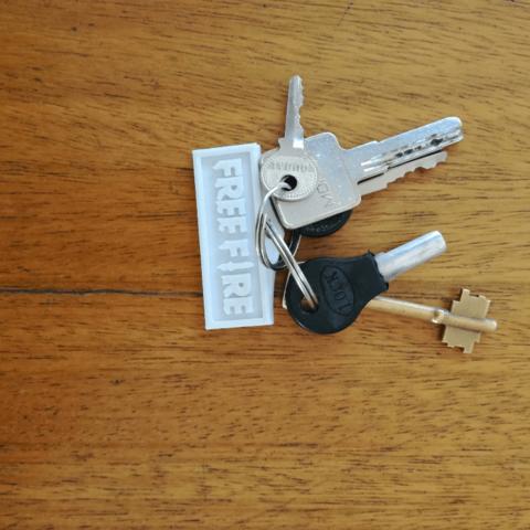 3D printer files Free fire keychain, siempreingles