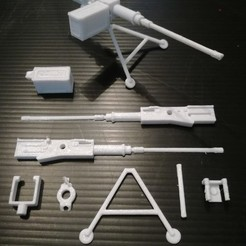 3D printing model M2 Browning with tripod, siempreingles