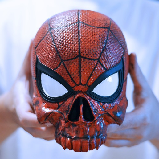 Download 3D printing templates SPIDERMAN SKULL, FRANCESCOPION