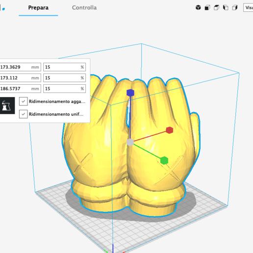 """Schermata 2020-11-16 alle 23.08.46.png Télécharger fichier STL Mains KAWS """"Pocket emptier"""" • Objet imprimable en 3D, FRANCESCOPION"""