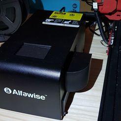 Descargar Modelos 3D para imprimir gratis Deflector de flujo de aire Alfawise U20 al revés v2.1, TitiPalm