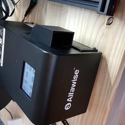 Descargar Modelos 3D para imprimir gratis Deflector de flujo de aire Alfawise U20 hacia adelante, TitiPalm
