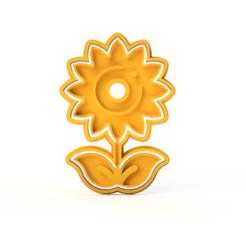 Girasol v1.png Download STL file CUTTER COOKIE SUNFLOWER FLOWER • 3D printer model, MaybellineM