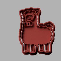 Llama.png Download STL file Cutter cookie calls • 3D printer object, MaybellineM