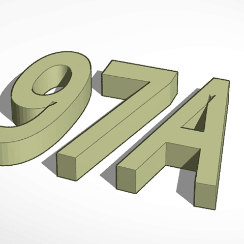 Download free 3D printer designs House number, fautres