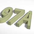 97A.png Download free STL file House number • 3D printing object, fautres